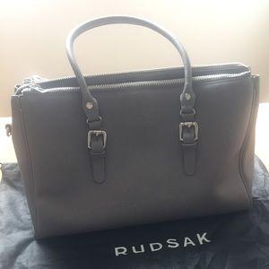 Rudsak saffiano leather grey tote